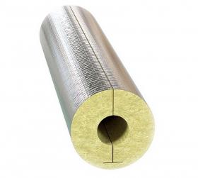 Цилиндр минераловатный WINPIPE Alu для труб 110 мм. Толщина 40 мм. РБ.