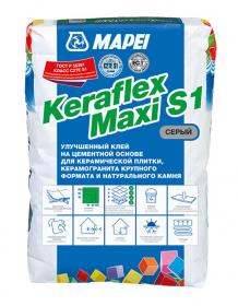 Клей для плитки эластичный Mapei KERAFLEX MAXI S1. 25 кг. РФ.