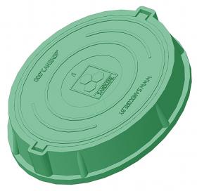 Люк полимерно-композитный легкий садовый A30 (зеленый). РБ.