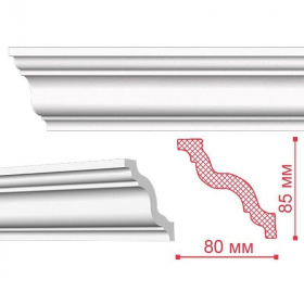 Плинтус потолочный NMC GR. 85х80мм. Длина 2м. РФ.