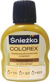 Колер Sniezka Colorex №63. Орех светлый. 100 мл. Польша.