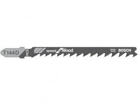 Пилка для лобзика Bosch T144D по дереву, быстрый рез. Швейцария.