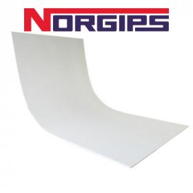 Гипсокартон Norgips арочный  6,5х1200х2600 мм. Польша.