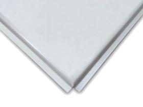 Панель потолочная алюминиевая Албес 600x600 мм. Матовая белая. РФ.
